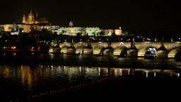 night city - Prague, Czech Republic - Prague Castle (Hradcany) - Charles bridge  Footage