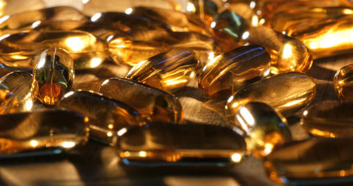 Fish oil vitamin minerals and nutritional food healthcare supplements pills Footage