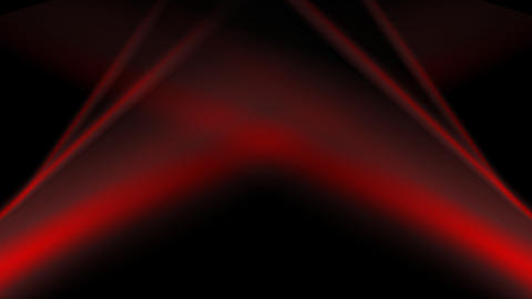 Abstract dark animated background. Red flowing wavy stripes on black Animation
