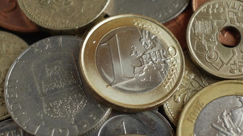 coins of different countries Footage
