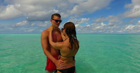 v15500 two 2 people together having fun man and woman together a romantic young Footage