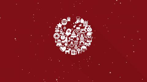 Christmas Collage : Ball Animation