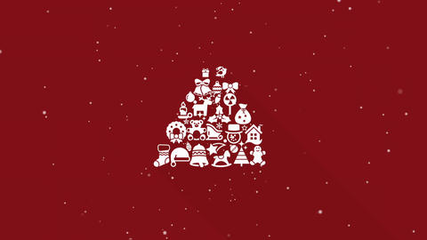Christmas Collage-Tree CG動画素材