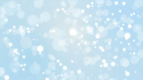 Blue winter bokeh background Animation