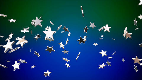 Broadcast Flying Hi-Tech Stars, Green Blue, Events, Loopable, 4K Animation