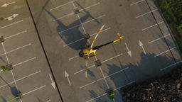 Private yellow helicopter takes off Footage