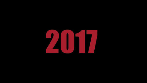 Abstract footage - New Year - changing the year and date Stock Video Footage