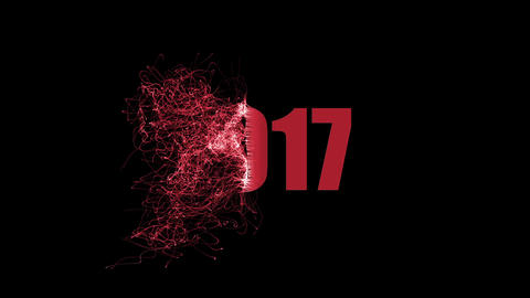 Abstract footage - New Year - changing the year and date Animation