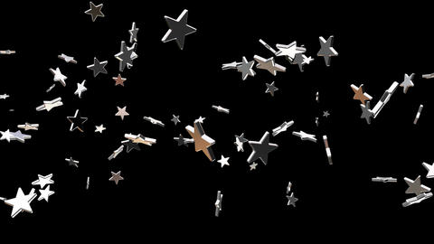 Broadcast Flying Hi-Tech Stars, Grayscale, Events, Alpha Matte, Loopable, 4K Animation