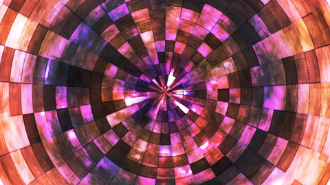 Twinkling Hi-Tech Grunge Flame Tunnel, Purple Brown, Corporate, Loopable, 4K CG動画素材