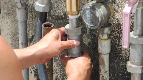 Repairing plumbing Footage