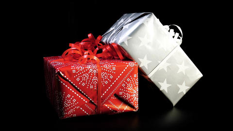 Christmas gifts or birthday packages Footage