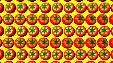 Tomatoes On Yellow Background CG動画素材