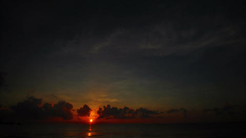 Sunrise over the sea, time lapse Footage