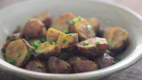 Roasted potatoes footage Live Action