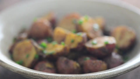 Fresh roasted potatoes video Live Action
