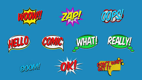 Comic Titles V1 Motion Graphics Template