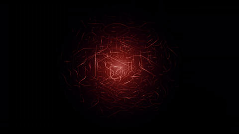 Red enegry ball. Glowing high energy particles flowing... Stock Video Footage