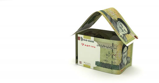 Real Estate with Iranian Rial Animation