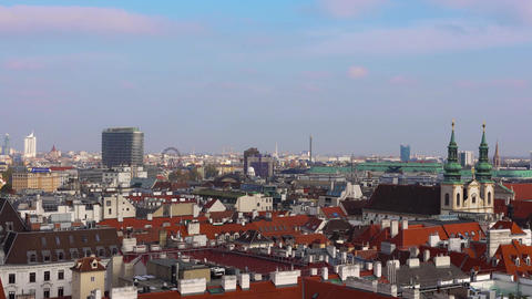 Vienna skyline, Austria. Aerial view of Vienna. Austria. Vienna Wien is the Footage