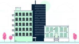 Street City Buildings Vector