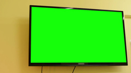 TV(television) - green screen - room - on the wall Footage