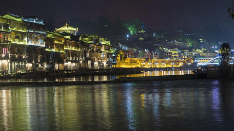 Feng Huang ancient town time-lapse Footage