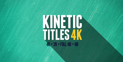 Kinetic Titles 4K After Effects Template