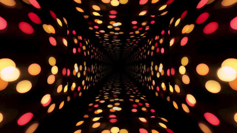 Christmas. 3d abstract tunnel animation. Futuristic technology design. 4k video Animation
