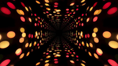 Christmas. 3d abstract tunnel animation. Futuristic... Stock Video Footage