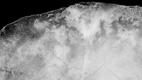 Time lapse ice melting high contrast 30fps alpha Image