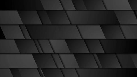 Black geometric tech abstract video animation CG動画素材