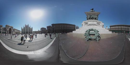 360 VR – Milan Piazza Duomo VR 360° Video