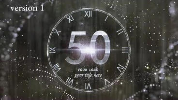 New Year Countdown Animation.New Year's Eve.Countdown 60 Second silver After Effects Template
