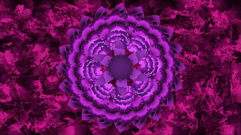 Mandala for chakra Sahasrara with moving colors on abstract background Animation