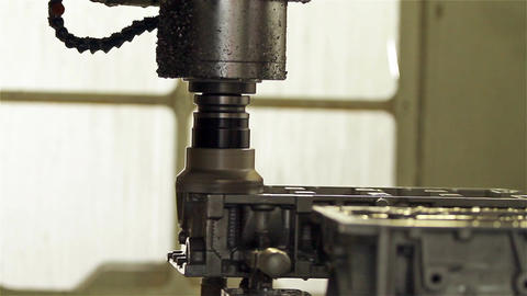 Metal work in the Industry, Precision Lathe CNC, Close Shot Live Action