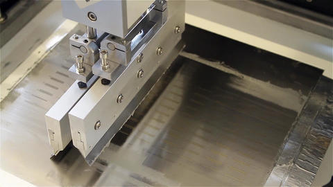CNC Machine used in Mass Production Footage