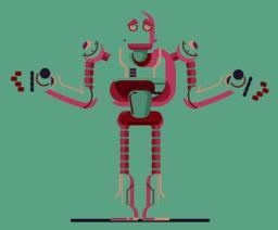 robot illustration graphic ベクター