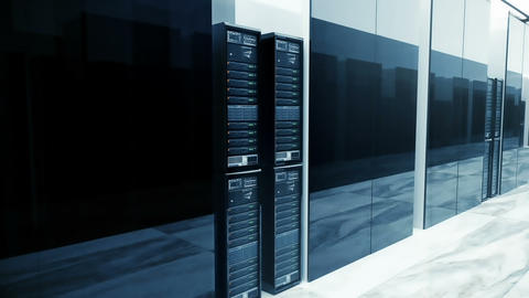 Data Servers In Server Room Looping. Video can represent... Stock Video Footage