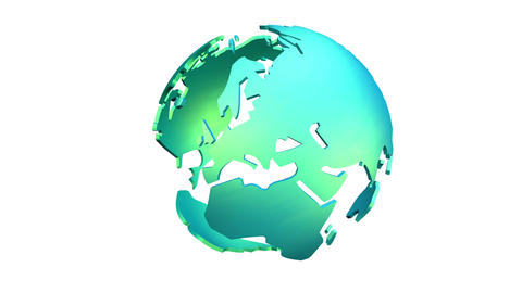 3D Animation of a rotating Globe Animation