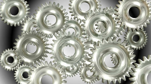 3D Animation of rotating Gears Animación