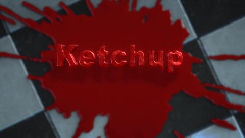 Logo Reveal After Effects Template: Ketchup - Fluid Splat and Dripping Text After Effectsテンプレート