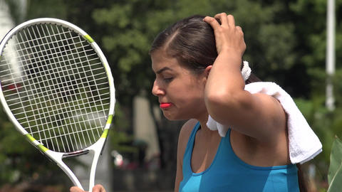 Angry Female Tennis Player Over Loss Image