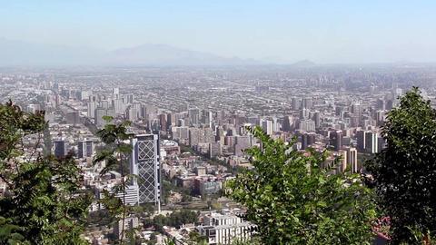 View of Santiago de Chile from Cerro San Cristobal Live Action