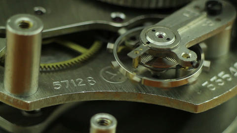 clock mechanism macro Footage