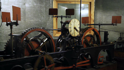 clock town hall mechanism Archivo