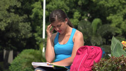 Unhappy Confused Female College Student Live Action