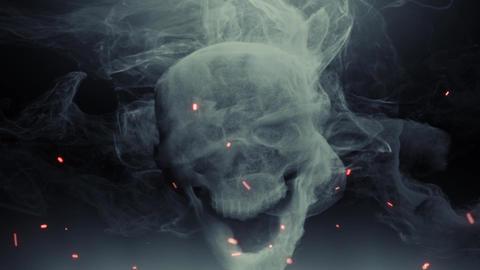 Animation head ghost skull smoke Animation