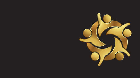 Golden VIP People Club. Logo Video Animation Animation