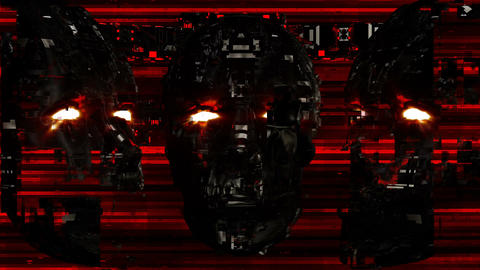Cyber Face VJ Loop CG動画素材
